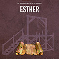 Esther Books Of The Bible Series Old Testament Minimal Poster Art Number 17 by Design Turnpike