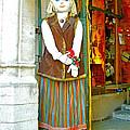 Estonian Greeter In Old Town Tallinn-estonia by Ruth Hager