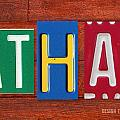 ETHAN License Plate Name Sign Fun Kid Room Decor. by Design Turnpike