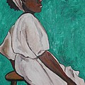 Ethiopian Woman In Green by Esther Newman-Cohen