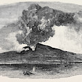 Etna In Eruption by English School