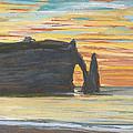 Etretat. Cliff Of Aval by Claude Monet
