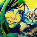 Evangelina And The Cat by Helena Wierzbicki