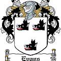 Evans Coat Of Arms Irish by Heraldry