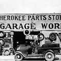 Evans Garage, 1936 by Granger