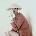 Evelyn Tripp Wearing Pink by Karen Radkai
