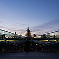 Even The Clouds Aligned With St Paul's Cathedral And The Millennium Bridge - London by Georgia Mizuleva