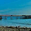 Evening At Mumbles Pier by Eben Photoart