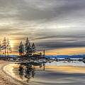 Evening At Sand Harbor by Maria Coulson
