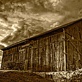 Evening Barn Sepia by Steve Harrington