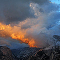Evening Clouds And Half Dome At Yosemite by Greg Matchick