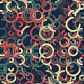 Evening Geometric Circle Segment Pattern by Frank Ramspott