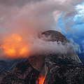 Evening Glow On Half Dome In Yosemite by Greg Matchick