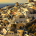 evening in Oia by Meirion Matthias