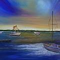 Evening In The Harbor by Marianne Eichenbaum
