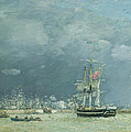 Evening Le Havre by Eugene Louis Boudin