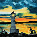 Evening Light - Lighthouse by Barbara Griffin