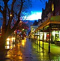 Evening Light On Lord Street by Joan-Violet Stretch