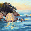 Evening Light Point Lobos by Karin  Leonard