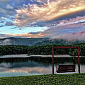Evening Mist In August Over Lake Tamarack by Jennifer Stackpole