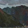 Evening Mountains In The Gulf by Juliya Zhukova