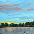Evening On Ema River by Misuk Jenkins
