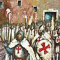 Templar Procession  by Kaye Miller-Dewing