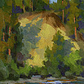 Evening Shadows Teanaway River by Diane McClary