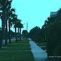 Evening Stroll At Isle Of Palms by Kendall Kessler