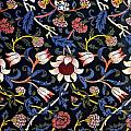 Evenlode In Blue Design by William Morris