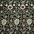 Evenlode Pattern In Green by William Morris