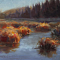 Ever Flowing Alaskan Creek In Autumn by Karen Whitworth