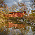 Everett Rd. Covered Bridge In Fall by Jack R Perry