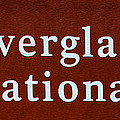 Everglades National Park Sign by David Lee Thompson