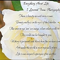 Everything About Life From Photogaphy by Bobbee Rickard