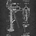 Evinrude Boat Motor 1911 Patent Art Black by Prior Art Design