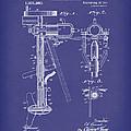 Evinrude Boat Motor 1911 Patent Art Blue by Prior Art Design