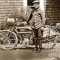 Excalibur Motorcycle California Circa 1915 by California Views Archives Mr Pat Hathaway Archives