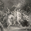 Excited Scottish Witches Dance by Mary Evans Picture Library