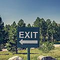 Exit Sign by Bryan Mullennix