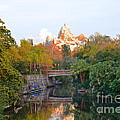 Expedition Everest At Sunset by Carol  Bradley
