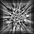 Explosive Abstract Black And White By Kaye Menner by Kaye Menner