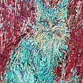 Expressionist Cat Oil Painting.3 by Fabrizio Cassetta