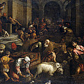 Expulsion Of Merchants From The Temple by Jacopo Bassano