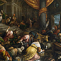 Expulsion Of The Merchants From The Temple by Francesco Bassano