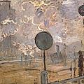 Exterior Of Saint-lazare Station by Claude Monet
