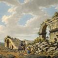 Exterior Of The Ruined Roman Theatre by Gaetano Mercati