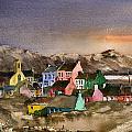 Eyeries Village Beara West Cork by Val Byrne