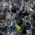 Eyes Down From The 103rd Floor Little Dude With No Fear by Thomas Woolworth