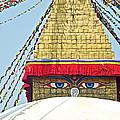 Eyes Of Buudha Boudhanath Stupa In Kathmandu-nepal  by Ruth Hager